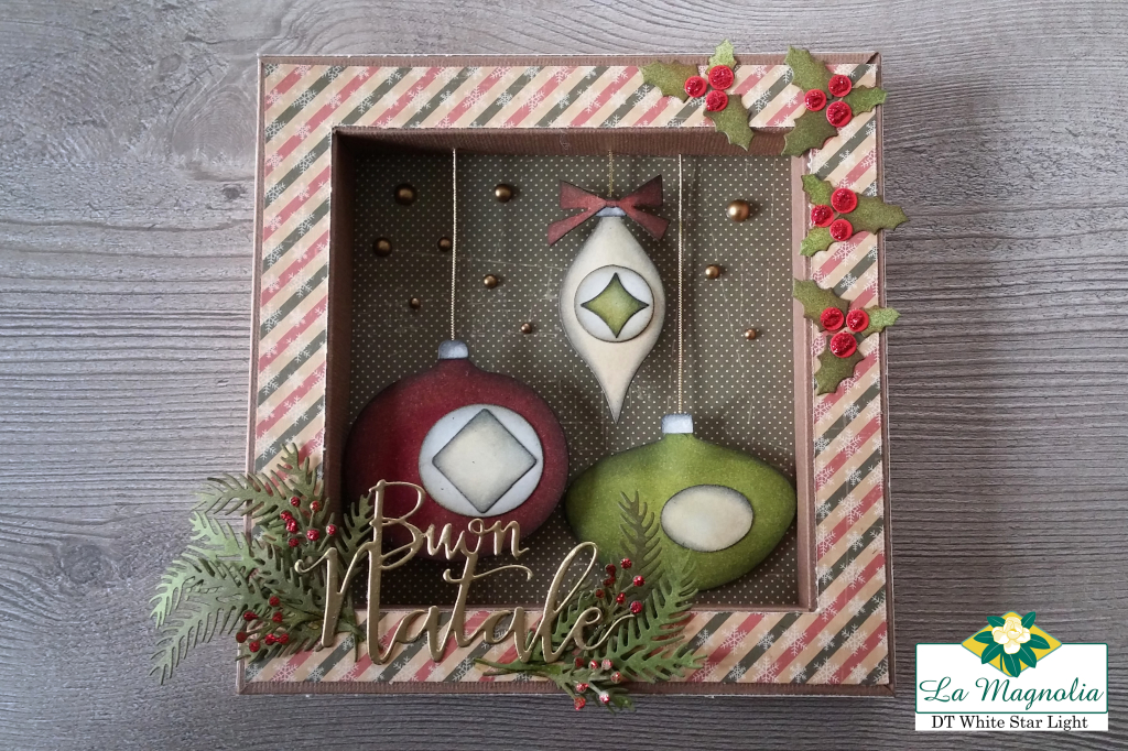 Shadow Box Buon Natale