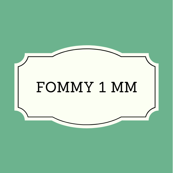 Fommy 1 mm Tinta Unita